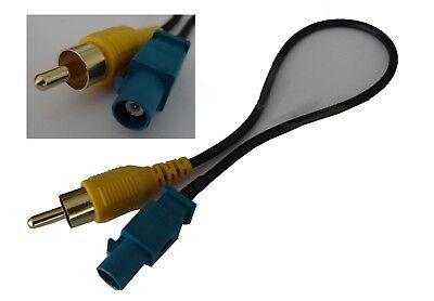 Cinch auf FAKRA Adapter Stecker Kabel für Video Rückfahrkamera Ford Mercedes
