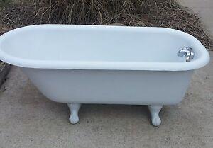 5 Ft Original Porcelain Antique Kohler Clawfoot Claw Foot Cast Iron Bath Tub