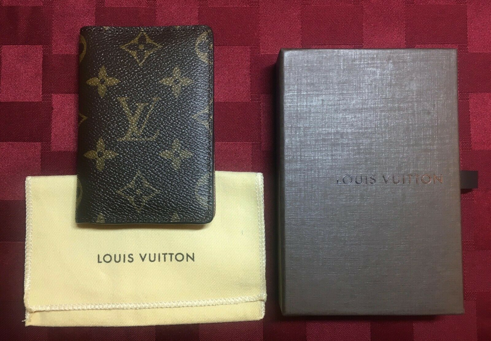 375 Authentic LOUIS VUITTON Pocket Organizer Monogram Canvas
