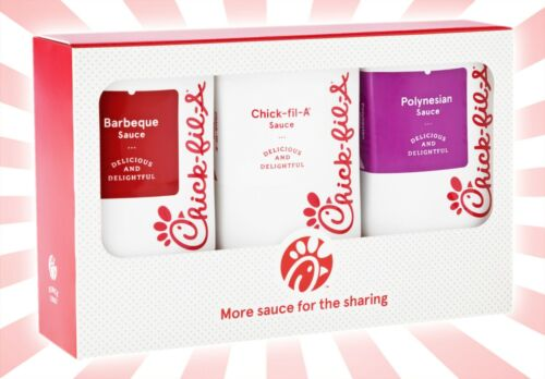Chick-Fil-A Original, Polynesian & Barbeque Sauce LIMITED EDITION Gift Set 8 OZ