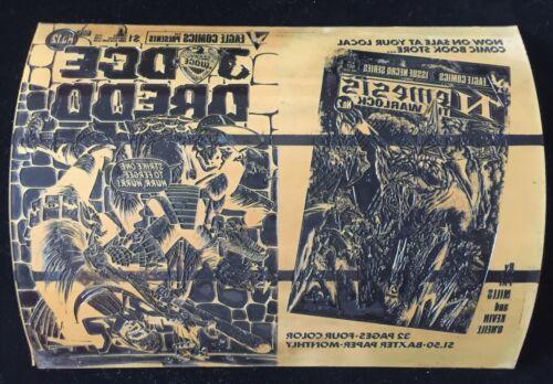 RARE Eagle Comics Judge Dredd 12 Mike McMahon Original Cover Art Printing Plate