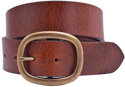 Grain Finish (Full Grain Crunch Finish Buffalo Leather w/Brass Center Bar Buckle - Red)