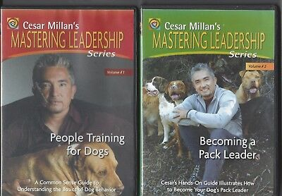 CESAR MILLAN'S Mastering Leadership Series Volume 1 and 2 DVD Dog Training Lot