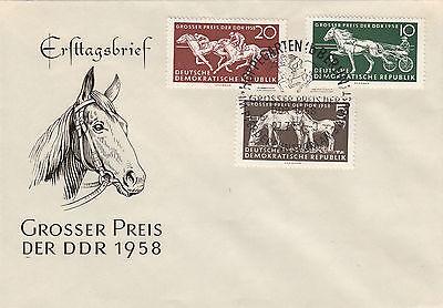 DDR FDC Ersttagsbrief 1958 Großer Preis der DDR Mi.Nr.640-42