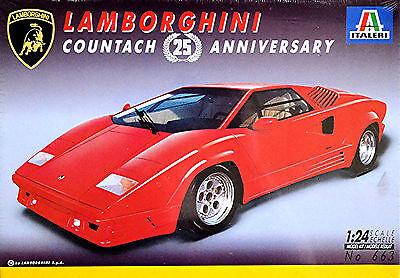 Lamborghini Countach 25 Anniversario 1988-90 1:24 Kit di Costruzione Italeri