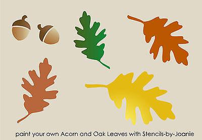 Stencil Fall Oak Leaves Acorn Autumn Harvest Primitive Market Garden Porch Signs