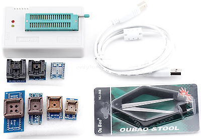 USB Universal Programmer Support 13000 ICs EPROM FLASH MCU PIC + 7pcs Adapters