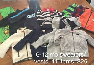 6-12 month boys sweaters/vests