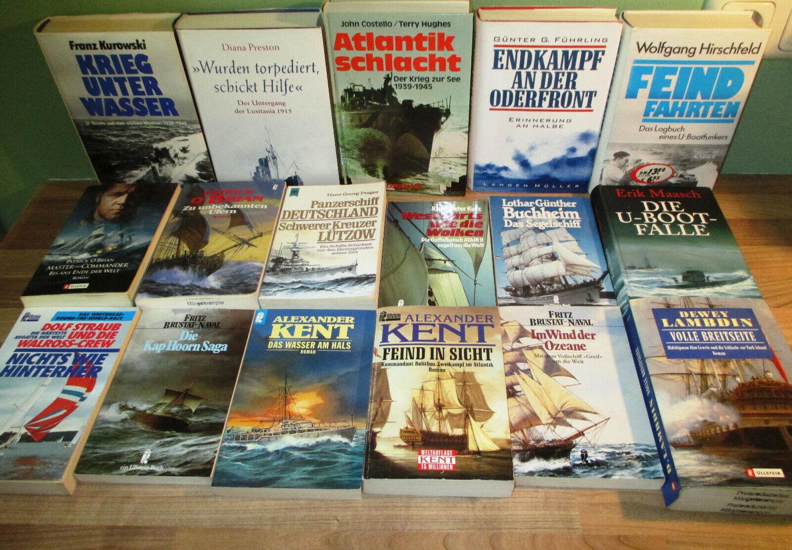 Buchpaket 28x Seeabenteuer Romane Kent U-Boot Seeschlacht usw