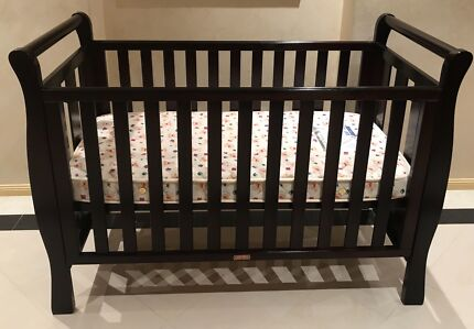 Luxury sleigh cot and mattress for sale