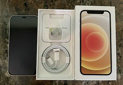 Apple iPhone 12 mini - 128GB - White (Unlocked) Excellent Condition + Extras