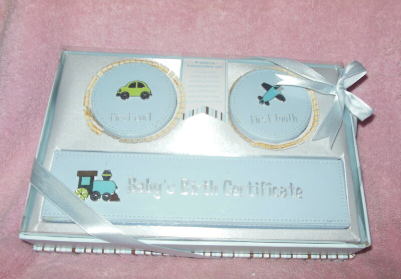 FIRST IMPRESSIONS BABY KEEPSAKE GIFT SET BLUE BOY NEW IN BOX