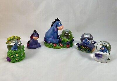 Disney Store Winnie The Pooh Eeyore Snow Globe Lot Figurine AA Milne EH Shepard