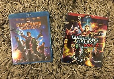 Guardians Of The Galaxy And Guardians Of The Galaxy Volume 2 Blu Ray Discs Set