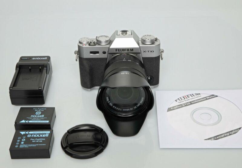 Fujifilm X-T10 Mirrorless 16.3 MP Digital Camera w/ 16-50mm Asph Super EBC Lens