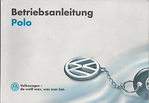 VW   POLO   3   Betriebsanleitung   Handbuch  1995  Bedienungsanleitung   6N  BA