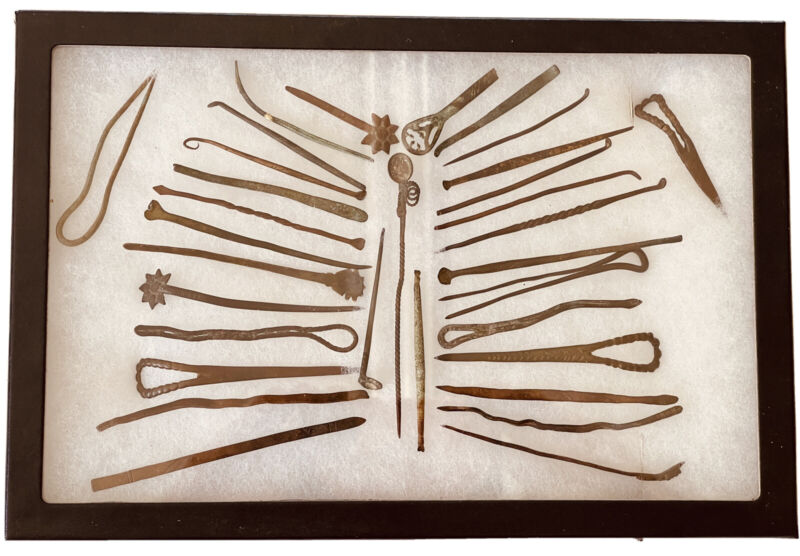 Antique Javanese Hairpins Hatpins Vintage Indonesian Womans Accessories Jewelry