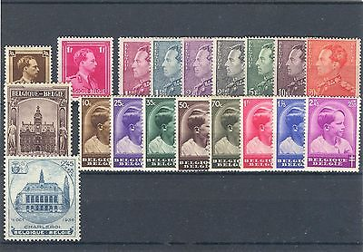 BE - BELGIUM 1936 complete year set MNH