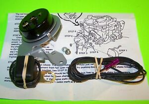 Electric Choke Conversion Kit 1970 72 73 74 Chevrolet Rochester Quadrajet BB