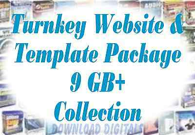 Turnkey Websites Templates - 9gb Package On Dvd Resell Start Making Money