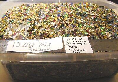 Vtg Random Lot Mix Shape Size Rhinestone Swarovski Czech Germany Jewelry Repair