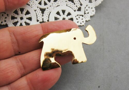 Gold Tone Elephant Pin Signed SH
