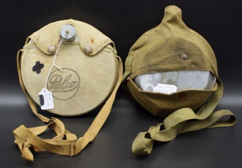 Vintage Boy Scouts of America Aluminum Water Canteen Mess Kit With Straps