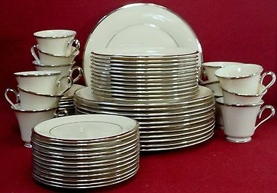 LENOX china SOLITAIRE pattern 60-Piece SET for 12 -cup saucer dinner salad bread