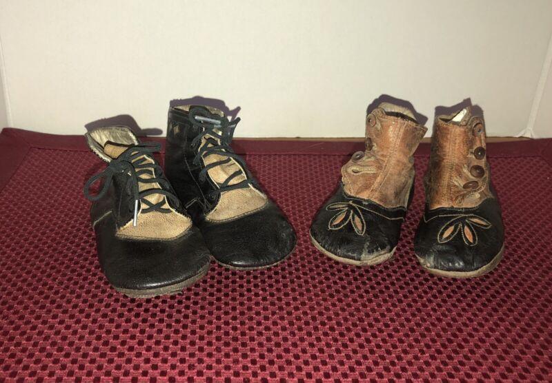Eduardian Era Baby Shoes