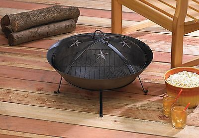 Fire Pit Stars - Western Stars Wood Burning Fire Pit Outdoor Living Yard Garden Black Cast Iron