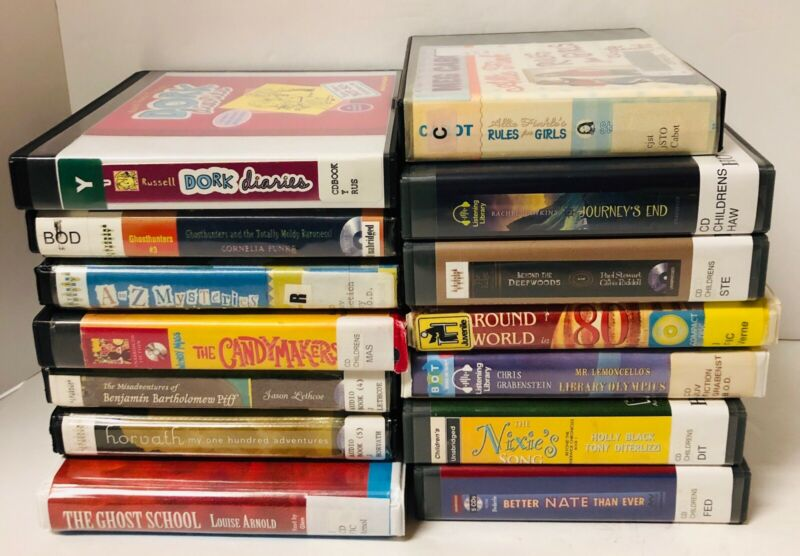 Audio Books On CD Children's Books Lot of 14 ~ Former Library