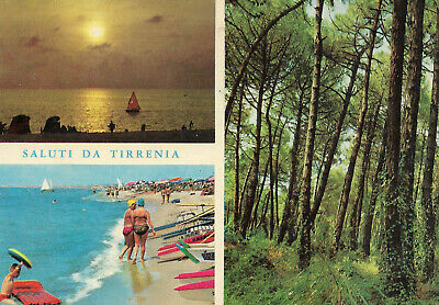 Italia - Tirrenia  -  Water sports on the beach - Sunset over the sea  -  1965 for sale  Shipping to Nigeria