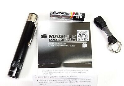 Mag-Lite Solitaire LED Flashlight Black Body Red Light AAA B