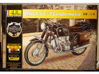 HELLER 1//8 BMW R60//5 R-60//5 GENDARMERIE POLICE BIKE MODEL KIT