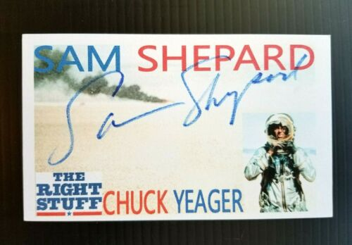 """""""THE RIGHT STUFF"""" SAM SHEPARD """"CHUCK YEAGER"""" AUTOGRAPHED 3X5 INDEX CARD"""