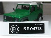 Land Rover Defender 90 110 V8 19J  Decal Sticker Label Under Bonnet Engine Set