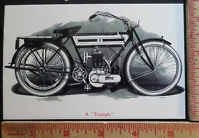 Vintage early Triumph postcard British motorcycle old advertising card ad