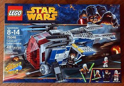 LEGO 75046 Star Wars Coruscant Police Gunship NEW NIB FACTORY SEALED RETIRED