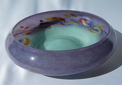 Vasart Strathearn Art Glass Bowl Hand Made in Crieff Scotland