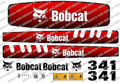 Bobcat 341 Mini Digger Decal Set
