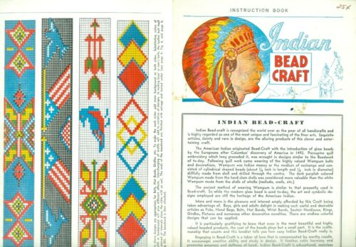 1960 Indian Bead Craft Instruction Brochure