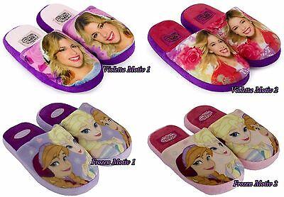 Violetta Die Eiskönigin Hausschuhe Latschen Pantoffeln Schuhe Disney Anna Elsa