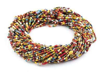 4 inch Old African Trade Beads Green Vulcanic Phono Record Disc Heishi Beads 8mm