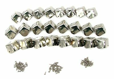 24pc Square Nickel-plated Box/Cabinet Corners - Great for Woodworking! for sale  Shipping to India