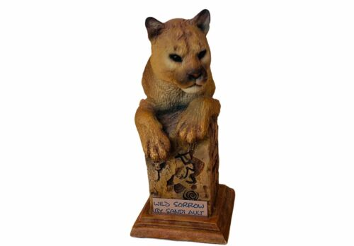 Mountain Lion Figurine Cougar Wild Sorrow Sandi Ault MCSI bust sculpture cat cub