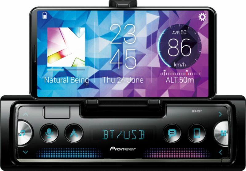 Pioneer Smart Sync Smartphone Receiver Featuring Built-In Cradle for Smartpho...