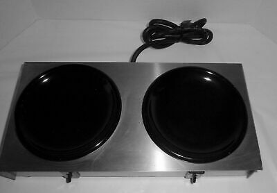 Bloomfield 2 Burner Dual Coffee Pot Warmer Hot Plate Model 8720