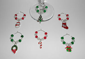 SET-OF-6-CHRISTMAS-WINE-GLASS-CHARMS-CHRISTMAS-TABLE-DECORATION-STOCKING-FILLER