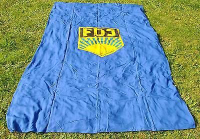 Große schwere FDJ Fahne ca. 260 x 165 cm Flagge Emblem beidseitig 1,2 kg DDR F11