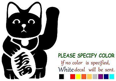 Maneki Neko Japanese Lucky Cat Funny Vinyl Decal Sticker Car Window Laptop 7